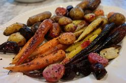 Sheet Roasted Root Vegetables and Potatoes Recipe Image