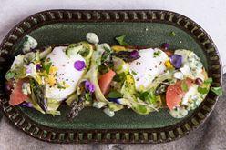 Shaved Asparagus Tartine Toast Image